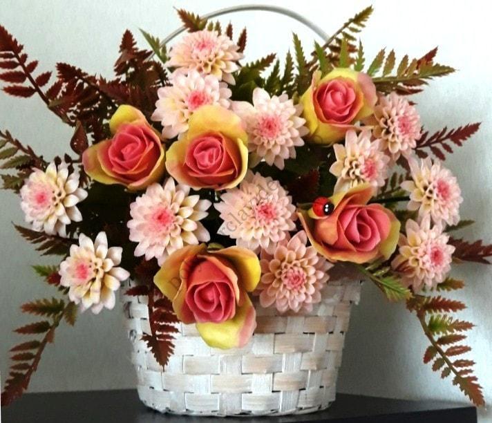 polymer clay flowers idea, website Polymer clay ideas