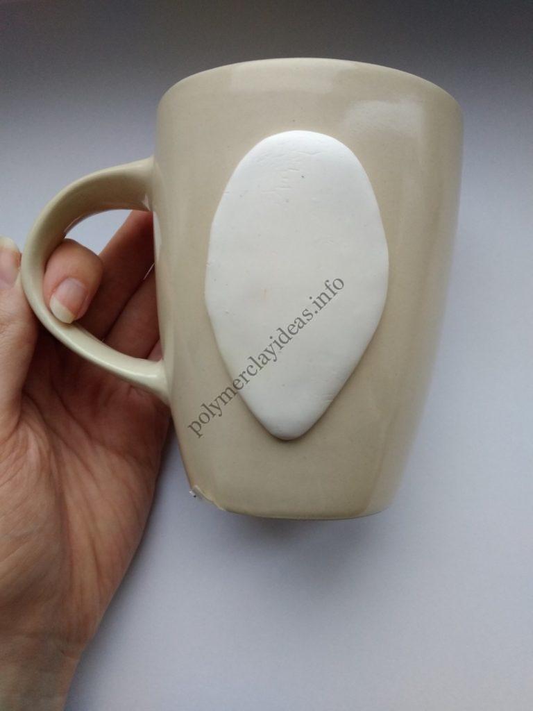 1 Polymer Clay Cup Decor idea: Husky Dog. Photo tutorial