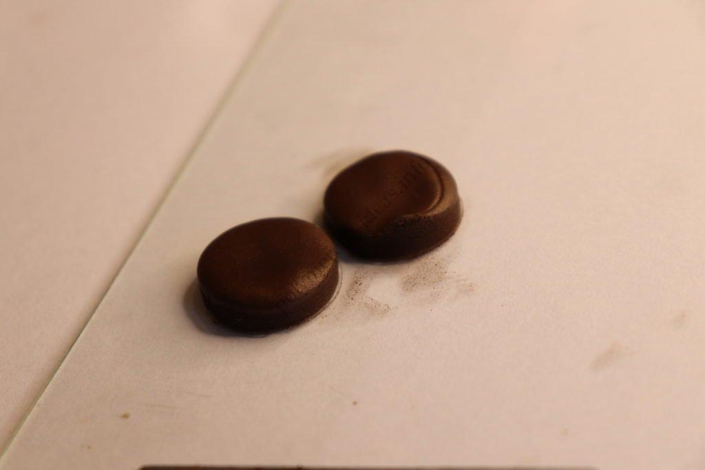 2 Chocolate biscuits polymer clay