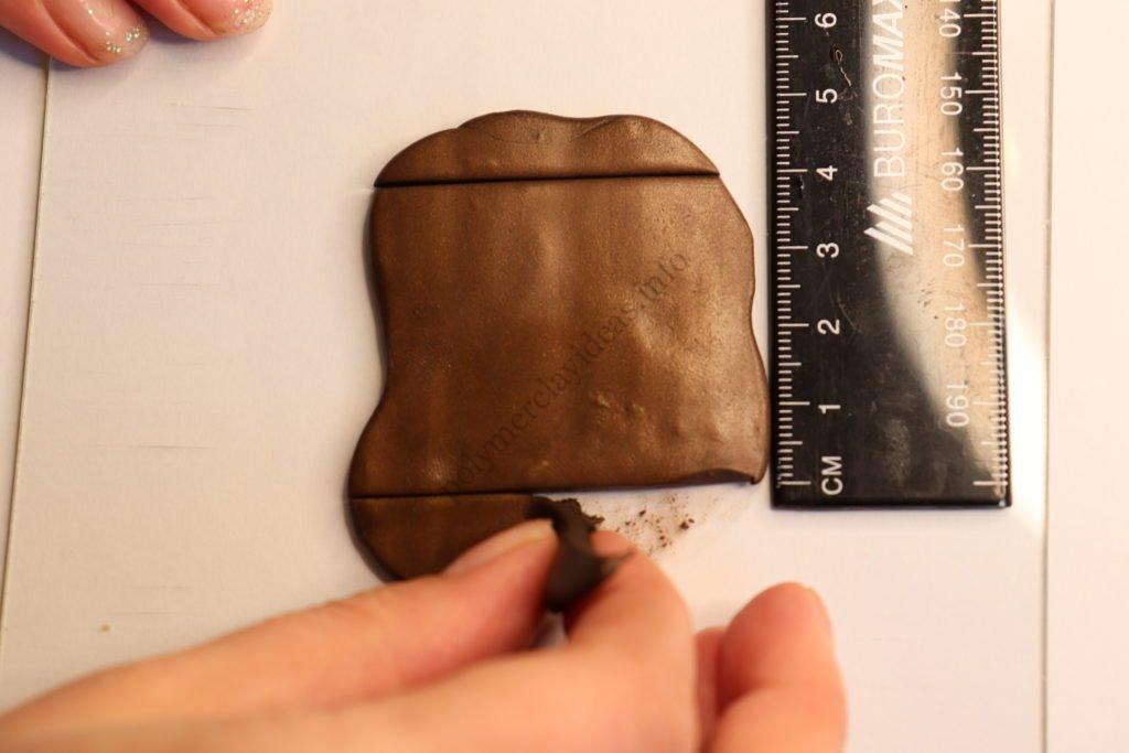 5 Chocolate. Photo tutorial on polymer clay food