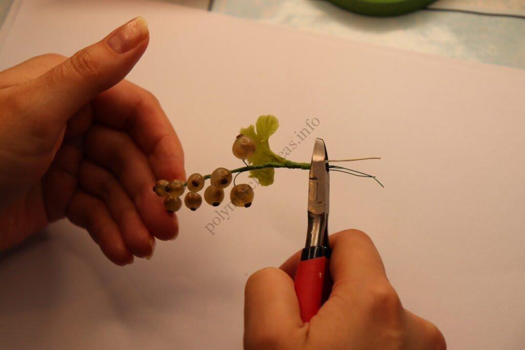 23 white currant of transparent polymer clay