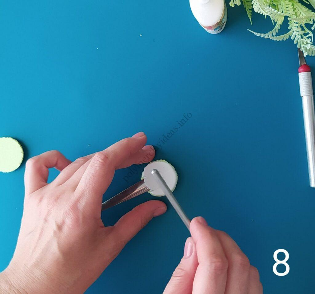 8 Photo tutorial on decorating a teaspoon with polymer clay