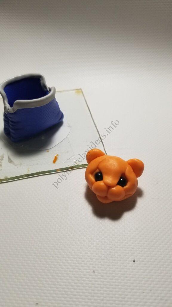 15 Polymer clay cute tiger cub