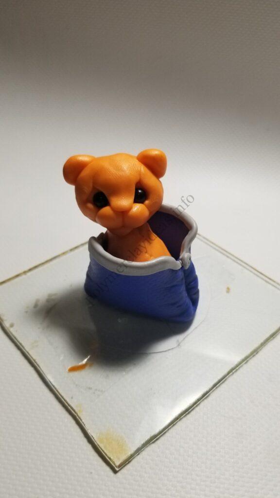 17 Polymer clay cute tiger cub