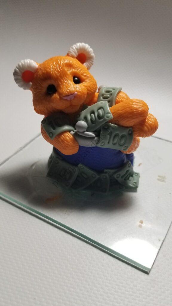 23 Polymer clay cute tiger cub