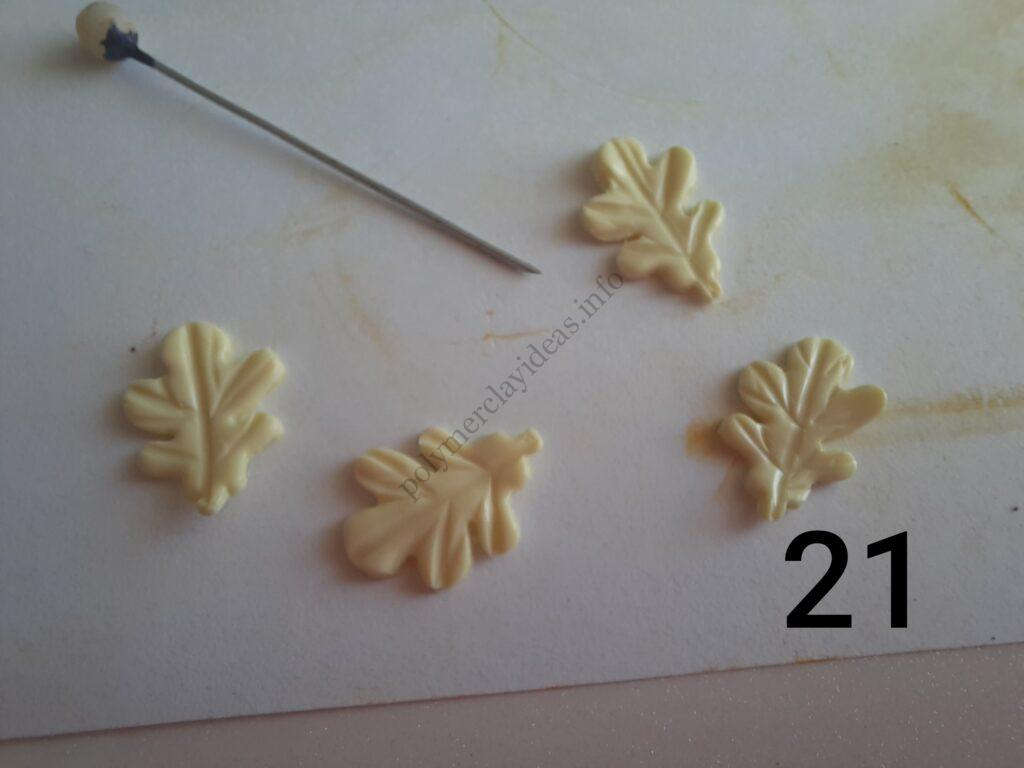 Photo 21. Polymer clay cake tutorial. Decorating the cake