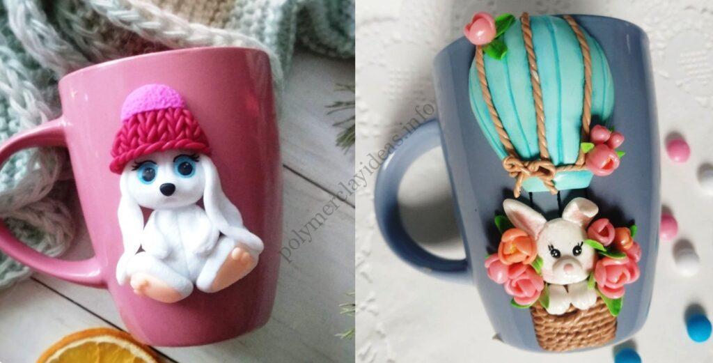 Polymer clay decor: Bunnies
