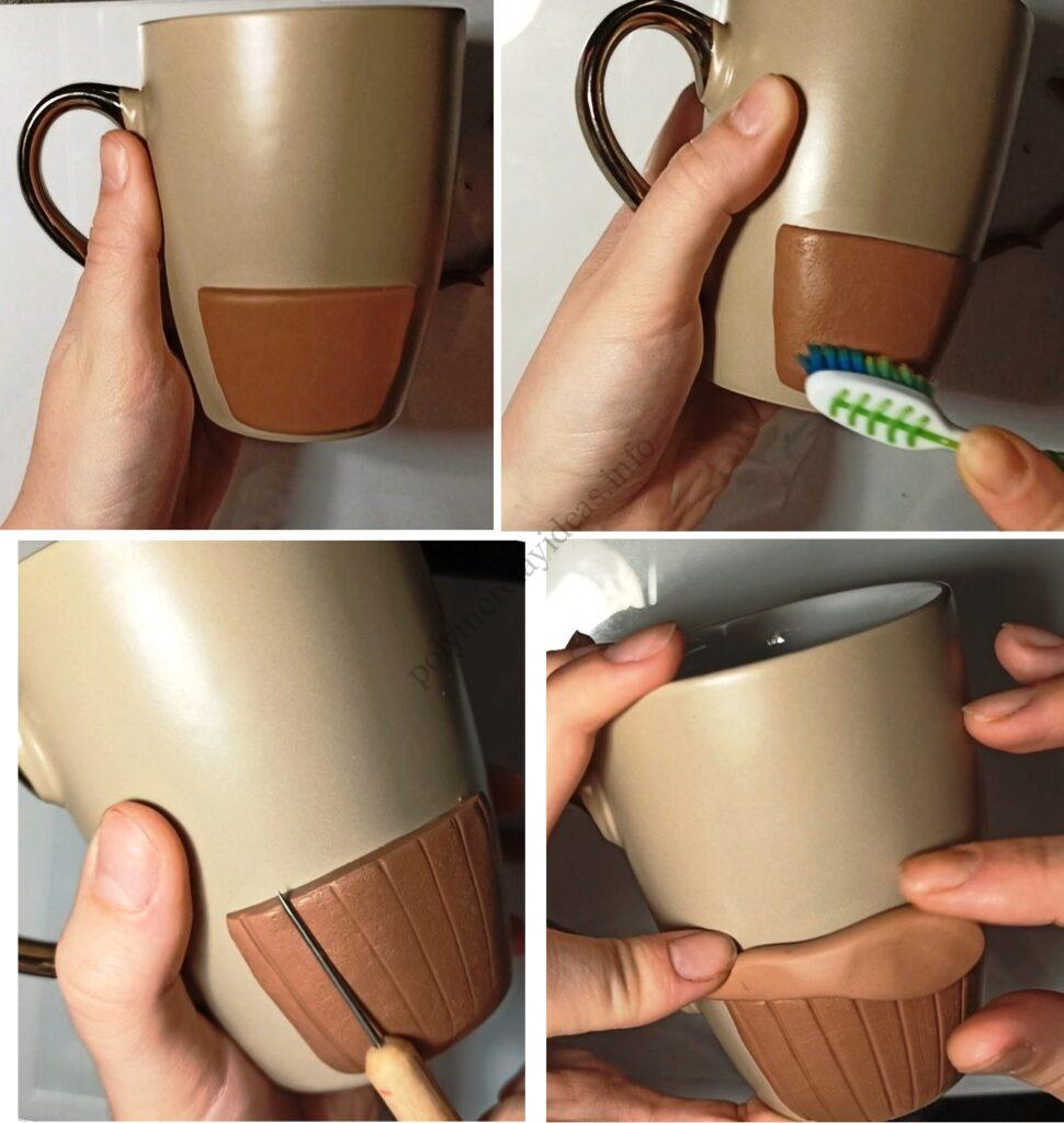 1. Polymer clay tutorial: Cupcake on a mug