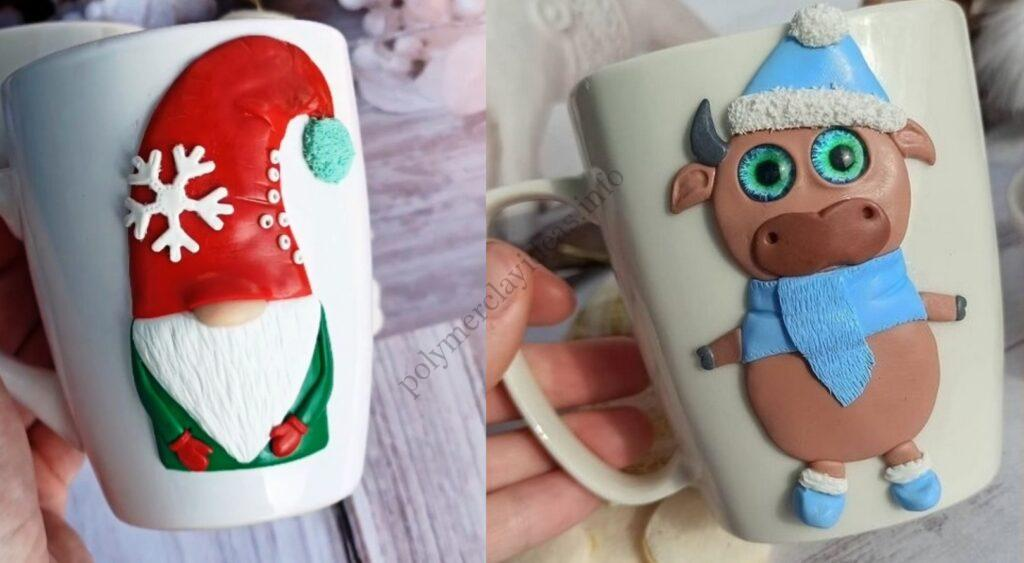 Christmas & New Year's polymer clay decor