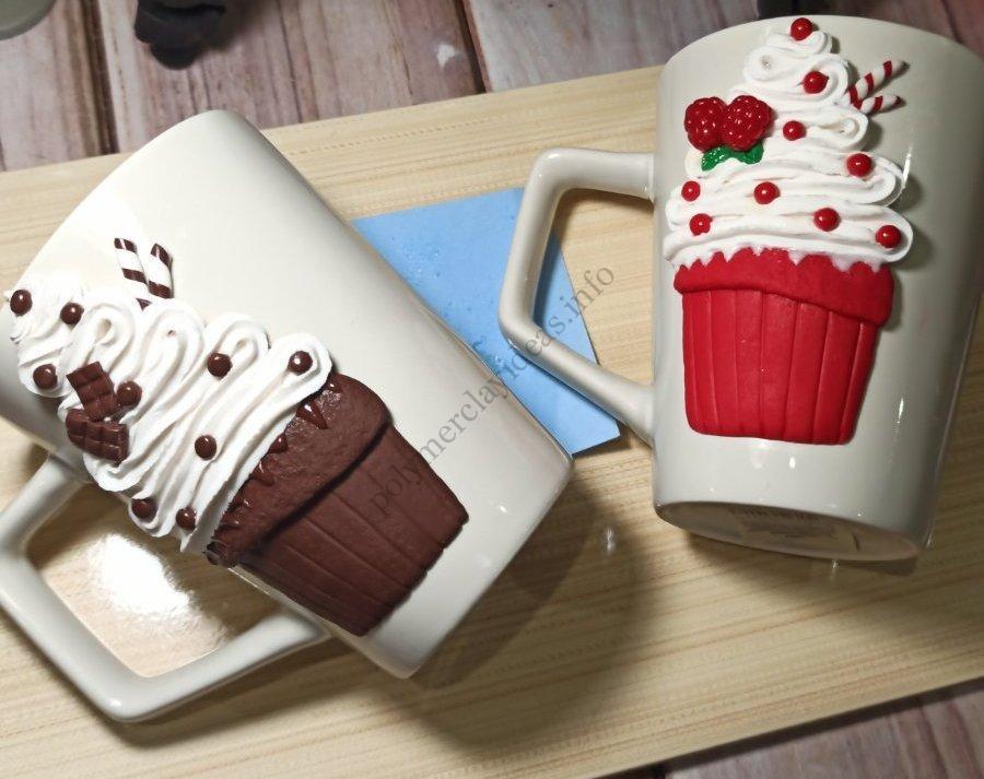 Similar polymer clay decor ideas: Cupcakes on a mug
