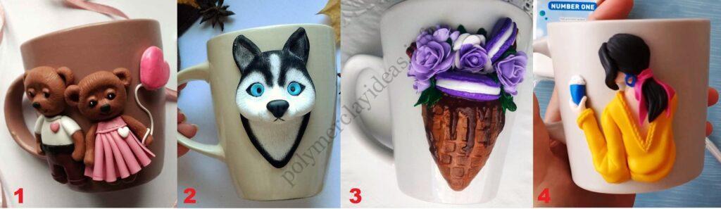 1-4 Polymer clay decor, tutorials on polymer clay