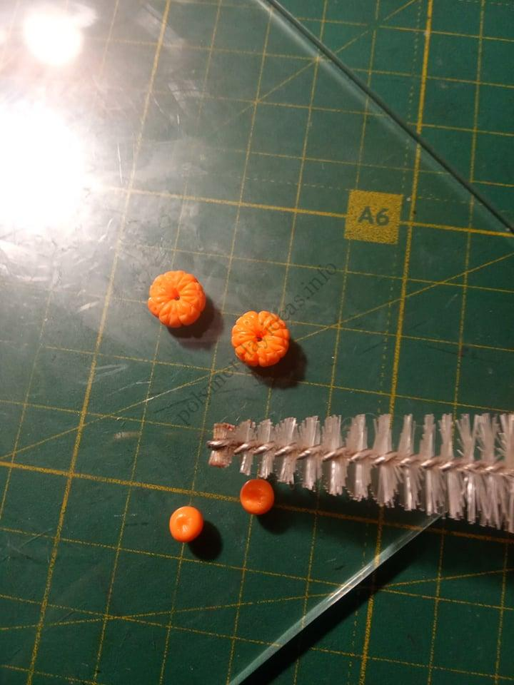 3. A photo tutorial on sculpting earrings with miniature Tangerines from polymer clay