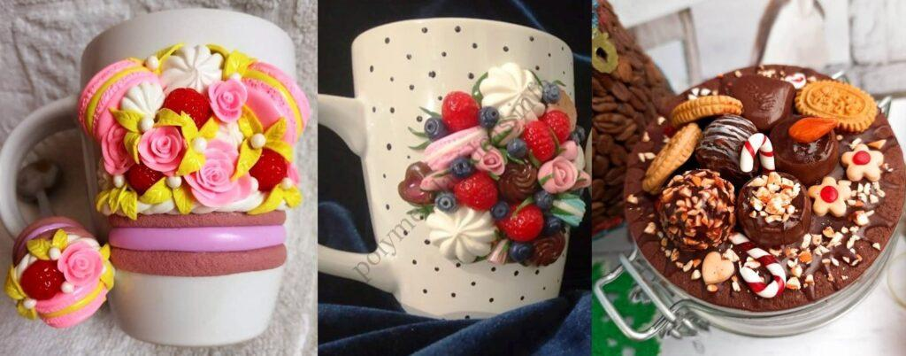7. Polymer clay decor: Cookies and sweets