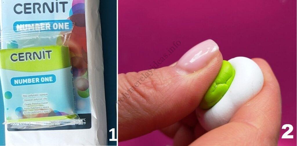 1-2 Photo tutorial Ranunculus flower polymer clay
