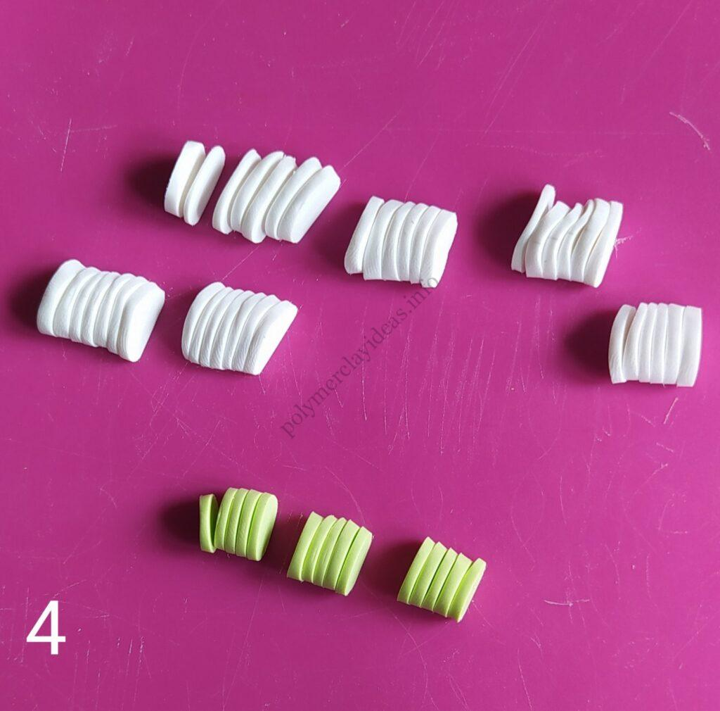 4 Photo tutorial Ranunculus flower polymer clay